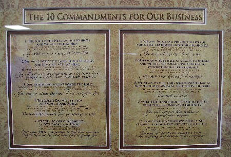 Ten Commandments for Business (click to enlarge)