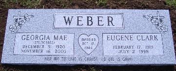 Weber gravestone