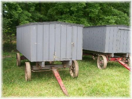 Amish bench wagons