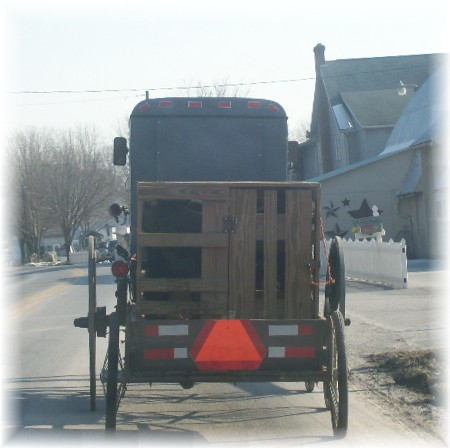 Amish buggy with trailer