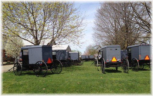 Amish church parking lot 4/19/15