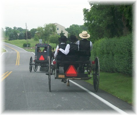Amish buggies going to church 6/6/10