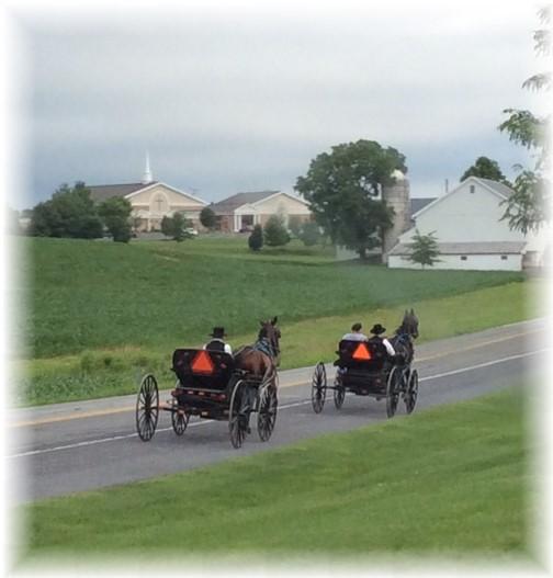Amish church traffic 6/14/15 (Ester)