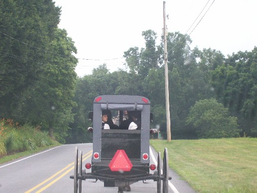 Amish church traffic, Lancaster County PA 7/3/11