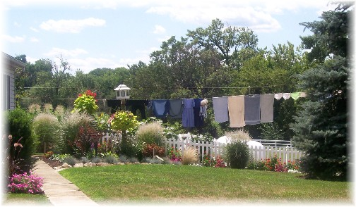 Amish solar-powered clothes dryer in Lancaster County PA, 8/11/11