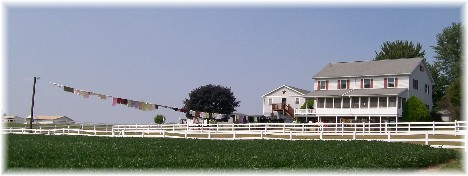 Amish clothesline, Lancaster County, PA 9/2/10