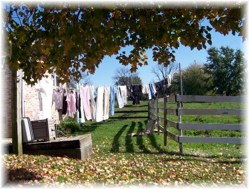 Amish clothesline in Lancaster County, PA 10/25/11