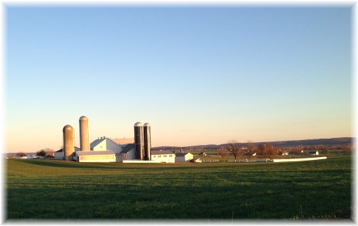 Amish farm in eastern Lancaster County PA 11/14/15