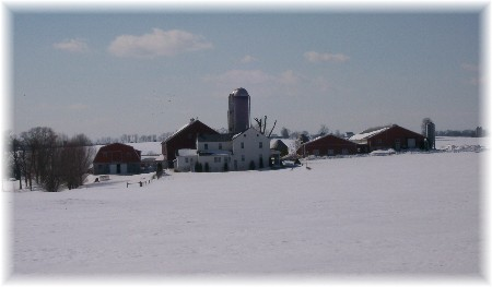 Amish farm in Lancaster County 2/18/10