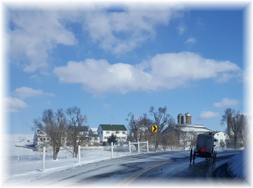 Amish farm in snow 2/11/16 (Click to enlarge)