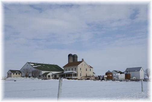 Amish farm in snow 1/29/16