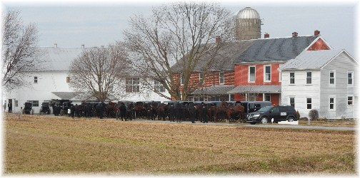 Amish funeral near New Holland PA 2/13/13