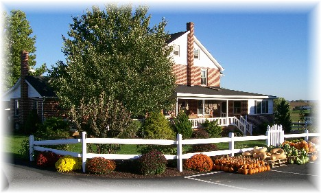 Amish home on Stumptown Road in Lancaster County, PA 10/08/10