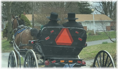 Amish in Lancaster County 4/1/18 (Click to enlarge)