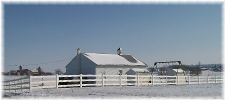 Amish one room schoolhouse in eastern Lancaster County