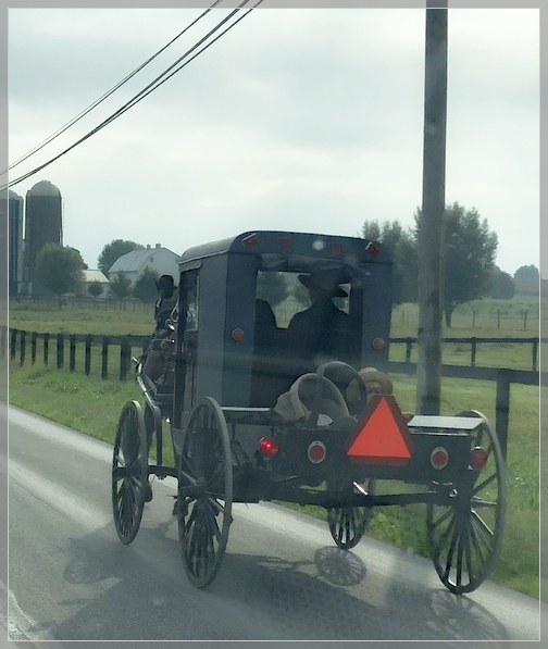 Little boy in Amish pickup, Lancaster County 9/20/18