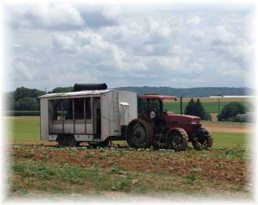 Amish planting contraption 7/14/15