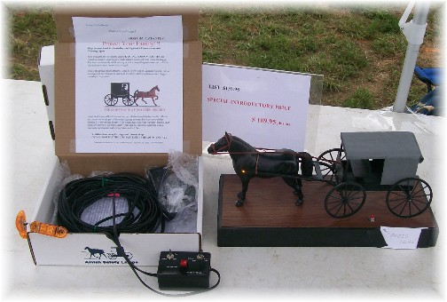 Amish safety device sold at the Lancaster County Carriage & Antique Auction in Bird In Hand PA.