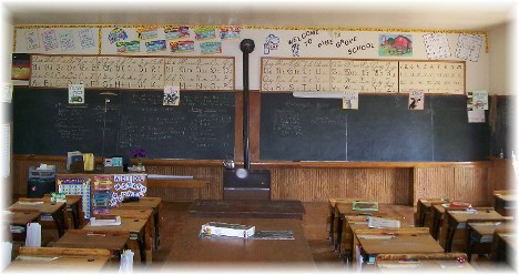 Amish one room schoolhouse (inside)