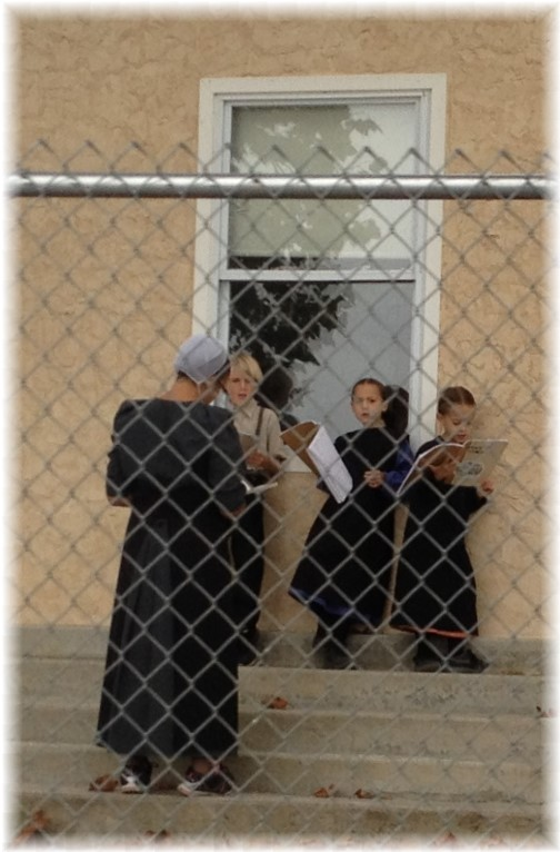 Amish children reading, Lancaster County, PA 10/2/14