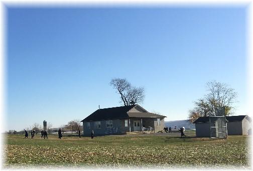 Amish school recess 11/17/16 (Click to enlarge)