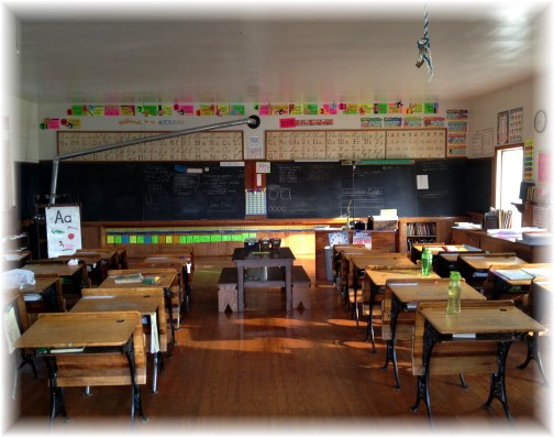 Interior of one room Amish schoolhouse 9/2/15 (Click to enlarge)