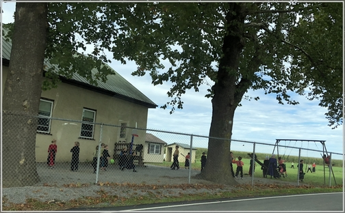 Amish children at recess 9/27/18 (Click to enlarge)
