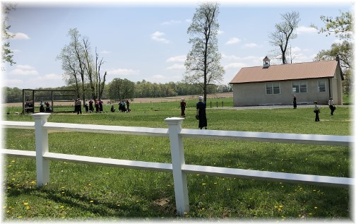 Amish children playing baseball 5/8/18