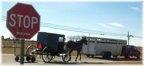 Amish semi traffic