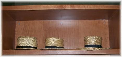 Amish straw hats at the Shady Maple 10/7/10