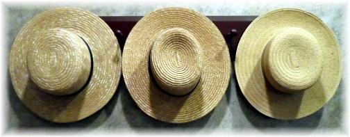 Amish straw hats