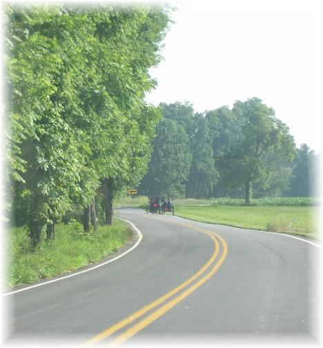 Amish church traffic