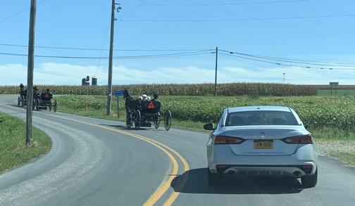 Amish Sunday traffic, Lancaster County, PA 9/15/19