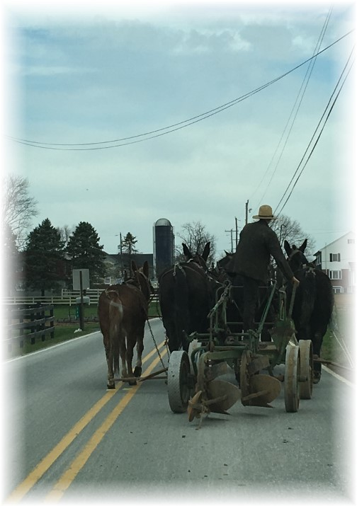 Lancaster County PA rural traffic 3/23/16
