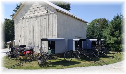 Parking at an Amish viewing 8/30/16