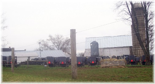 Amish wedding parking in Lancaster County, PA