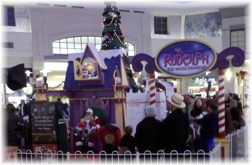 Amsih family lining up to see Santa at mall