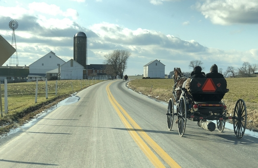 Amish youth heading to meeting 01-19-20