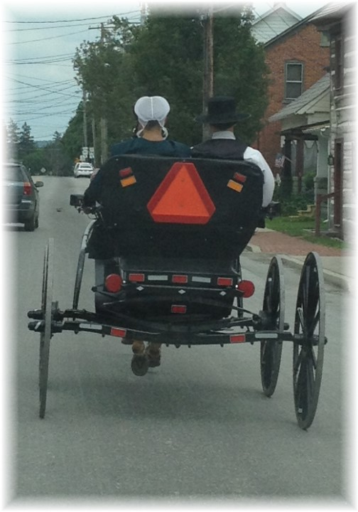 Amish couple courting 6/7/15