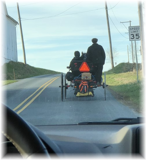 Amish youth heading to youth group 4/1/18