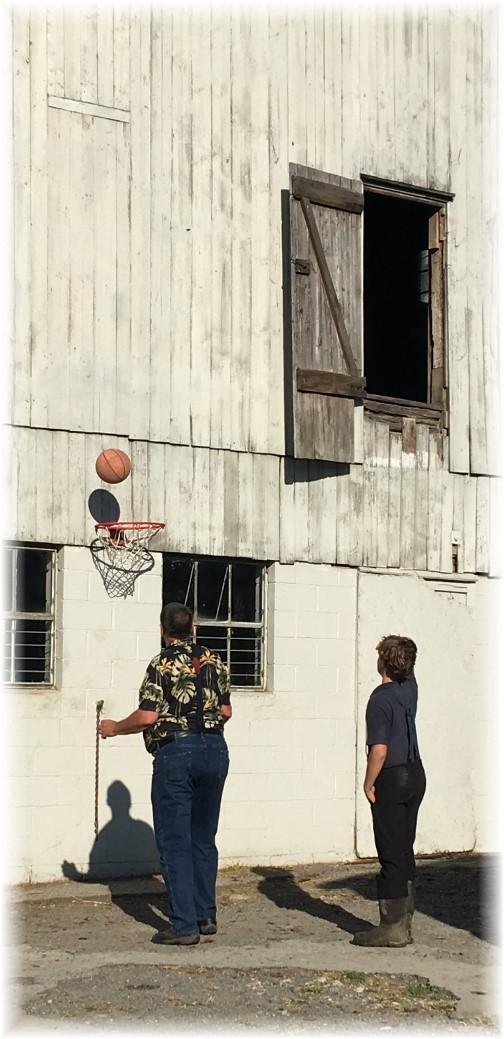 Amish barn basketball 9/28/17