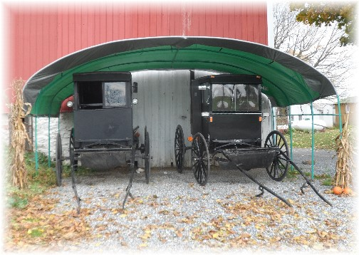 Old Order Mennonite tidy garage 11/2/13