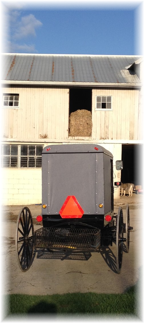 Buggy and barn