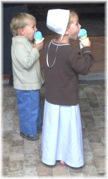 Plain children with ice cream cones