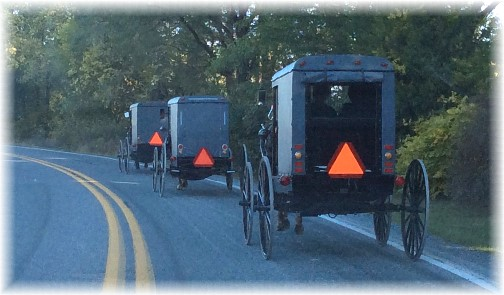 Amish church traffic 10/5/14