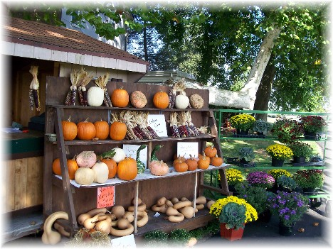 Creekside farm stand near Mount Joy, Pennsylvania