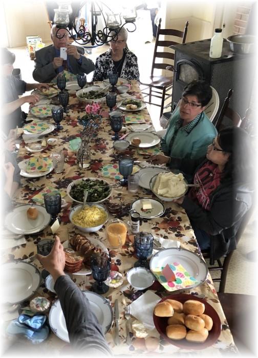 Easter dinner at Lapp family 4/1/18