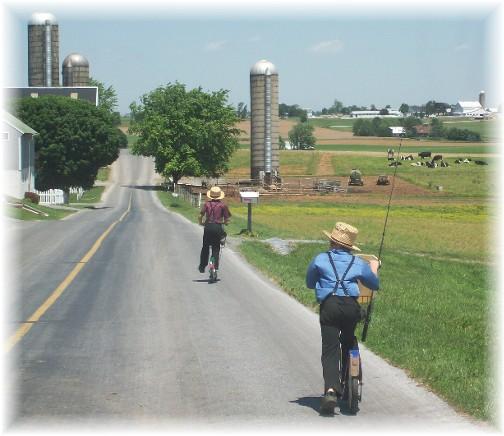 Amish boys going fishing 6/2/11