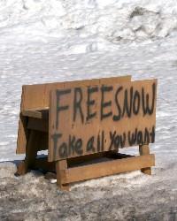 Free snow sign