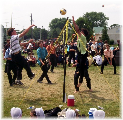 Volleyball tournament at Intercourse Heritage Days 2011